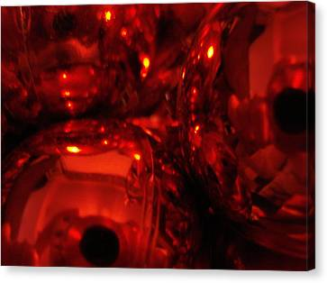 Shiney Red Ornaments One Canvas Print