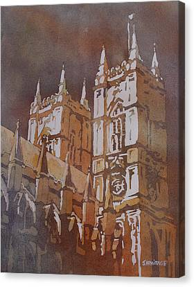 Westminster Abbey Canvas Print - Shining Out Of The Rain by Jenny Armitage