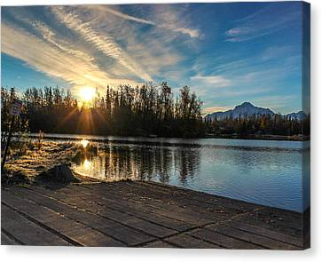 Shining Sunrise Canvas Print by Tyler Olson