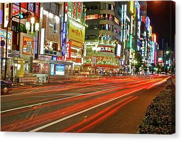 Shinjuku Neon Strikes Canvas Print by Jonah  Anderson