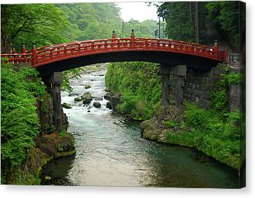 Shinkyo In Nikko Canvas Print by Jonah  Anderson