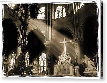 Shinning Through Canvas Print by Mike McGlothlen