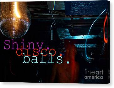 Shiny Disco Balls Canvas Print by Corey Garcia