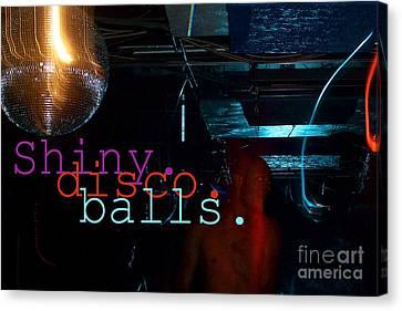 Daft Punk Canvas Print - Shiny Disco Balls by Corey Garcia