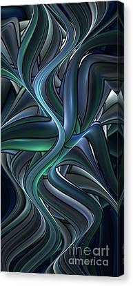 Shiny Pipes Canvas Print by Jaclyn Hughes Fine Art
