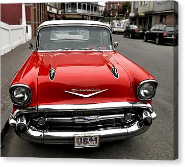 Shiny Red Chevrolet Canvas Print
