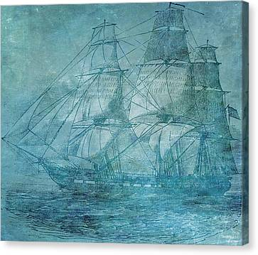 Water Vessels Canvas Print - Ship 1 by Angelina Vick