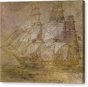 Water Vessels Canvas Print - Ship 3 by Angelina Vick