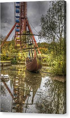Ship And Wheel Canvas Print by Nathan Wright
