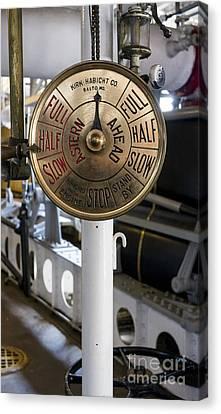 Ship Control Telegraph Canvas Print by Steven Ralser