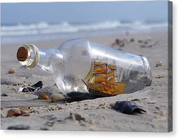 Ship In A Bottle Canvas Print by Mike McGlothlen