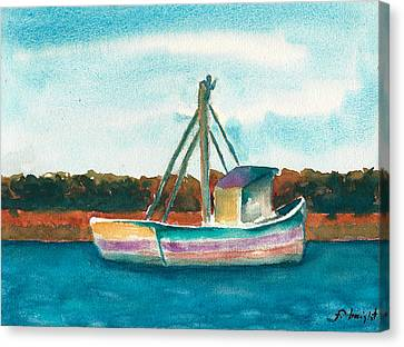 Ship In The Marsh Canvas Print