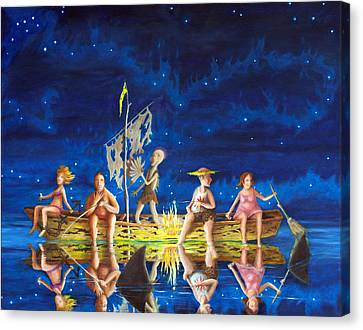 Canvas Print featuring the painting Ship Of Fools by Matt Konar