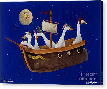 Ship Of Fools... Canvas Print by Will Bullas
