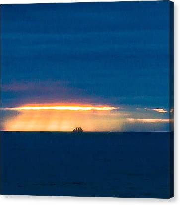 Ship On The Horizon Canvas Print