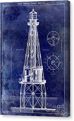 Ship Shoal Light House Blueprint Canvas Print