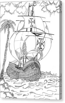 Ship Canvas Print by Shruti Bhagwat