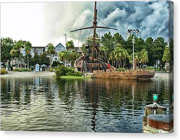 Ship Wrecked At The Disney Yacht And Beach Club Resort Canvas Print by Thomas Woolworth