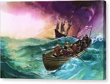 Shipwrecked Sailors Canvas Print