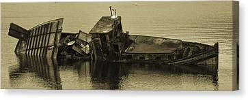 Canvas Print featuring the photograph Ship Wrecked by Timothy Latta