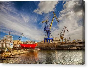 Ship Yard Canvas Print