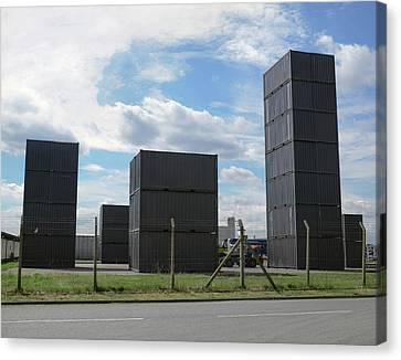 Shipping Containers Canvas Print by Robert Brook