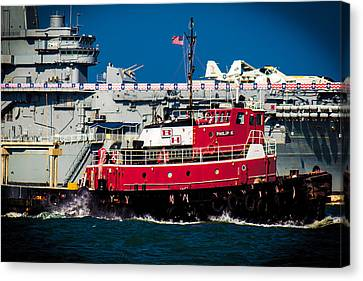 Canvas Print featuring the photograph Shipping Lane Hero by Bartz Johnson