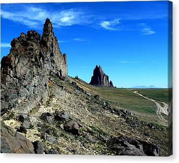 Canvas Print featuring the photograph Shiprock by Alan Socolik