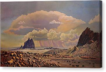 Canvas Print featuring the painting Shiprock Vista by Art West