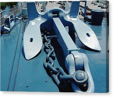 Ships Anchor Canvas Print by Michael Genova