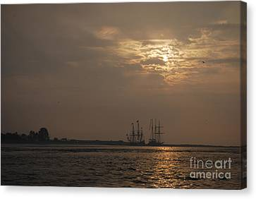 Ships At Dawn Canvas Print