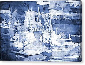 Ships In The Water Canvas Print by Davina Washington