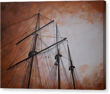 Ships Masts Canvas Print by Julie Cranfill