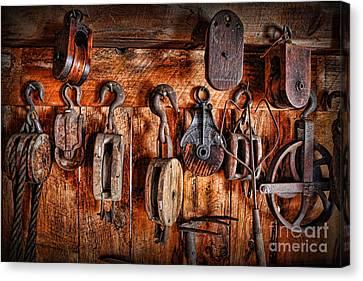 Ship's Rigging Canvas Print by Lee Dos Santos
