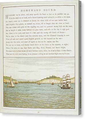 Ships Sailing Near Dover Canvas Print by British Library