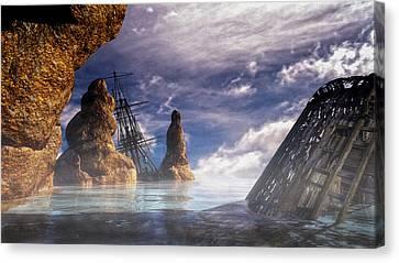 Shipwreck Canvas Print by Bob Orsillo