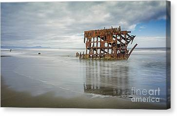 Fort Stevens State Park Canvas Print - Shipwreck by Carrie Cole