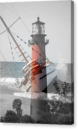 Canvas Print featuring the photograph Shipwreck by George Mount