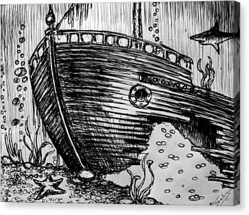Shipwreck Canvas Print by Salman Ravish