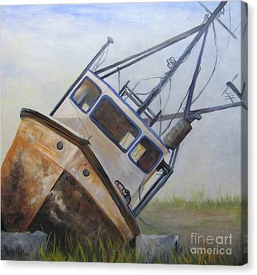 Shipwrecked Ike  Canvas Print