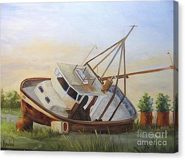 Shipwrecked Ike II Canvas Print