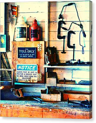 Shipyard Carpentry Canvas Print