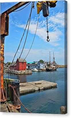 Shipyard Of Cape Ann... Canvas Print by Joanne Beebe