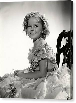 Shirley Temple Portrait Canvas Print by Georgia Fowler