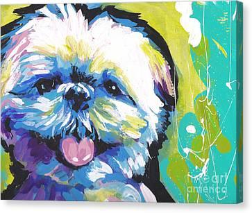 Shitzy Smile Canvas Print
