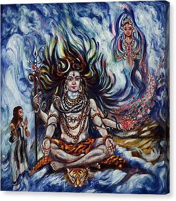 Shiva - Ganga - Harsh Malik Canvas Print by Harsh Malik