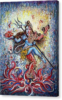 Shiv Shakti Canvas Print by Harsh Malik