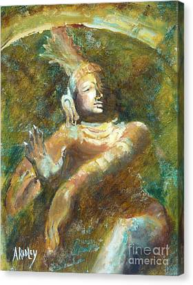 Shiva Creator Destroyer Canvas Print by Ann Radley