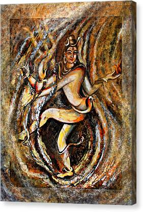 Canvas Print featuring the painting Shiva Eternal Dance by Harsh Malik