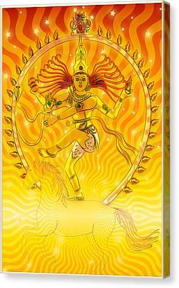 Shiva Nataraja Iv Canvas Print by Harald Dastis